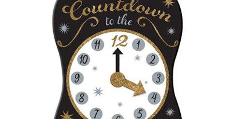 New Year Countdown Hanging Sign (each