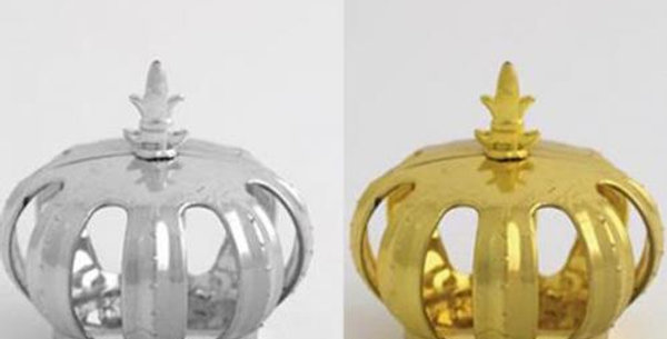 Decorative Crown gold or silver  7x7cm