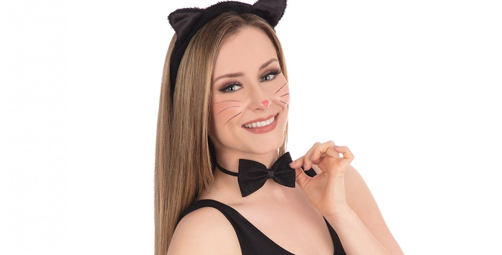 Cat Set ears, bowtie and tail