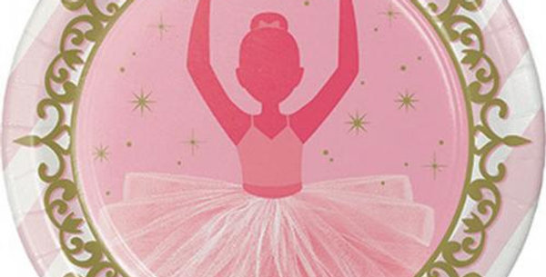 23 cm plates Ballerina - Twinkle Toes 8 pz