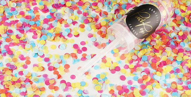 various colours Confetti push pop, mix of colours