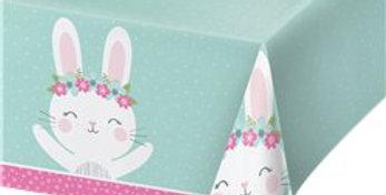 Birthday Bunny Plastic Tablecover -1.2m x 1.8m