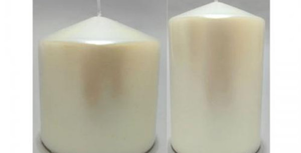 13cm pillar candle pearl white