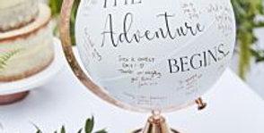 Wedding Globe Guest Book Alternative