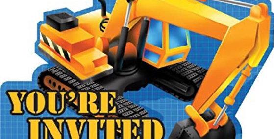 Bob the Builder - Construction - Invitations 8pcs