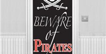 Beware of Pirates Door Banner - 1.5m (each)