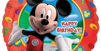 "Mickey Clubhouse Happy Birthday Balloon - 18"" Foil (each)"