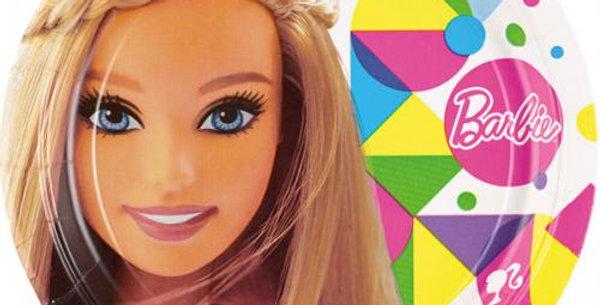 Barbie paper 23cm plates 8pk