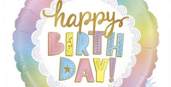 "Birthday foil balloon 18"""
