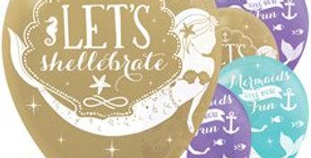 Mermaid Wishes Balloons - 12'' Latex (6pk)
