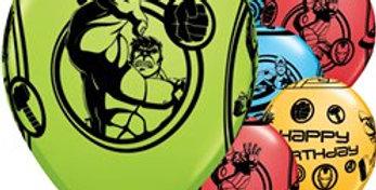 "Avengers Balloons - 11"" Latex"