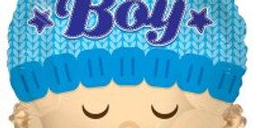 Baby Boy Head Shape - 18'' Foil Balloon