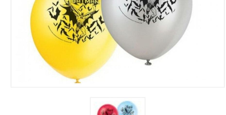 "Batman 12"" latex balloons 6pk"