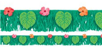 Tropical Jungle Fringe Banner - 1.77m (each)