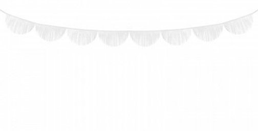 various colors Scalloped fringe garland,made of tissue paper