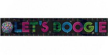 70s Disco Fever Foil Banner - 7.6m (each)