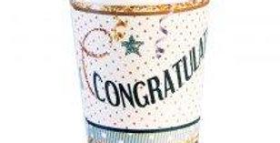 Congratulations Cups  8pk