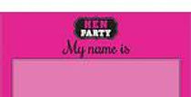 Hen Party Name Tags - Hen Party Accessories 16pk
