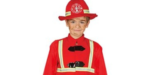 Fireman - Child Costume Includes Jacket, Trousers and Hat Age 3-4, 5-6,7-9,10-12