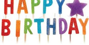 Birthday Bright 'Happy Birthday' Candles (13pk)