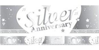 25th Silver Wedding Anniversary Banner - 2.7m (each)