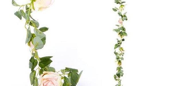 Light Pink /Red/White/ Cream Rose Garland - 1.75m