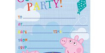 Peppa Pig Invites - Party Invitation Cards (20pk)