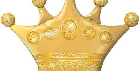 """Golden Crown Supersize Balloon - 41"""" Foil (each)"""
