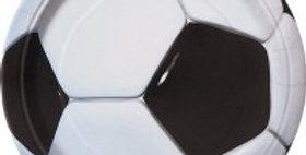 """3-D 7"""" Soccer Ball Plates 8ct"""