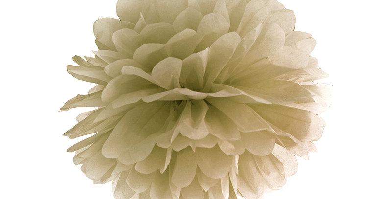 Tissue paper Pompom, gold, size 35 centimeters.
