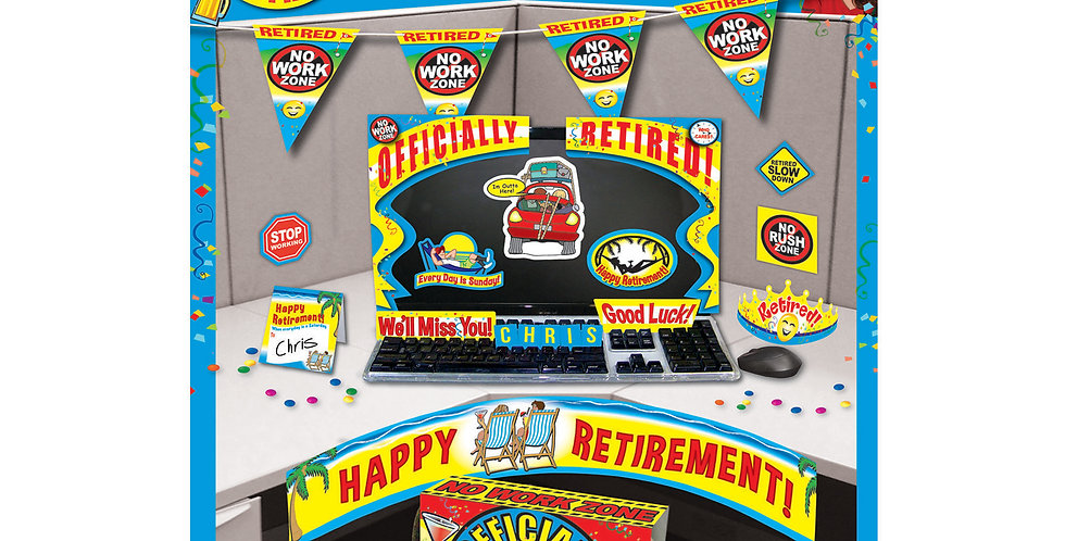Retirement Cubicle Decor Kit