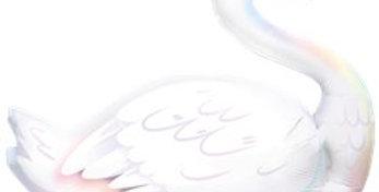 Graceful Swan Supershape Balloon - 35'' Foil (each)