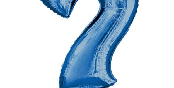 Blue  Shaped Air Filled Balloon 16'' Foil