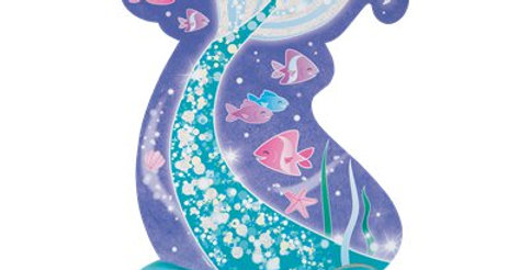 Magical Mermaid Honeycomb Centerpiece - 35cm