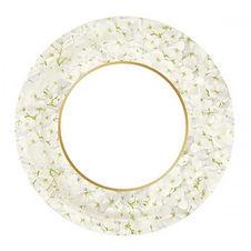 Ortensia WHITE 23cm plates 8pk