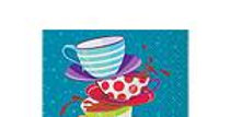 Mad Hatters Tea  Party Beverage Napkins 16pk