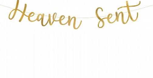 Banner Heaven Sent, gold, 14.5x85cm