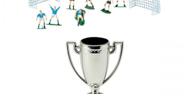 Cake topper Kit Football with Trophy