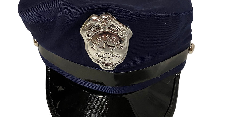 Police Hat, New York Police, navy blue, one size, size adjustable