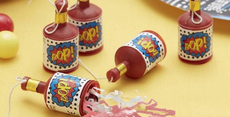 POP! SUPERHERO PARTY POPPERS - COMIC SUPERHERO   25pk