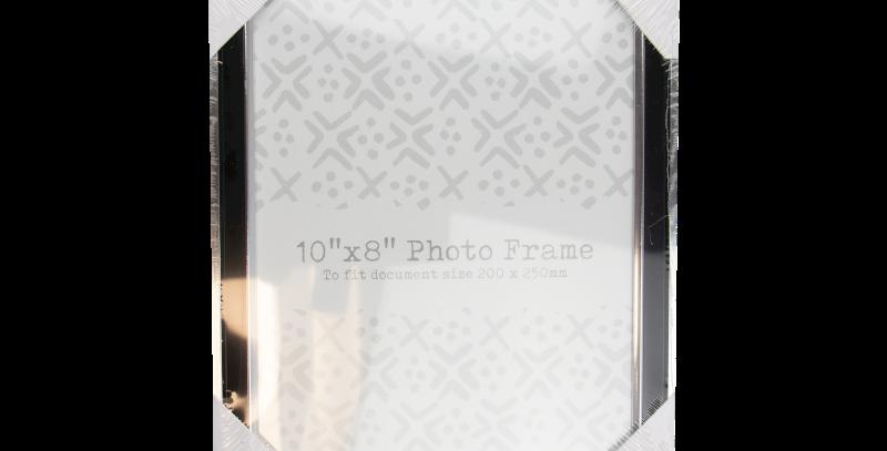 Black & Silver Photo Frame 10'' x 8''