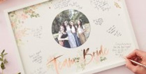 Hen Party Frame Guest Book - Floral Hen Party