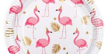 Flamingo Paper Plates - 23cm (6pk)