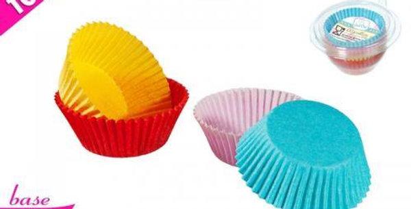 BOX 100 cupcake cases 9.5cm 4ass.colours