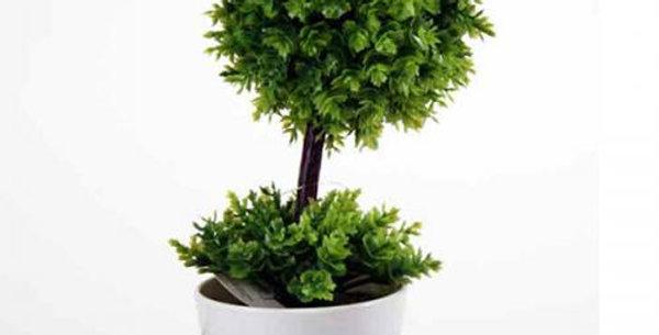 Artificial bonsai green in a pot  h20cm