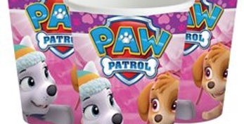 Pink Paw Patrol Cups - 266ml Paper Party Cups (8pk)
