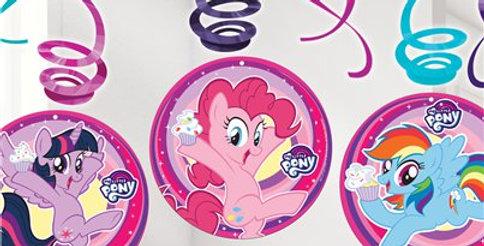 My Little Pony Hanging Swirls (6pk)