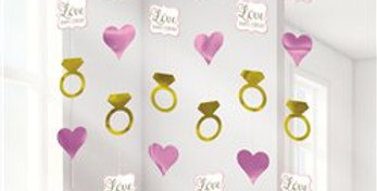 Engagement Wedding String Decorations - 2m (6pk)