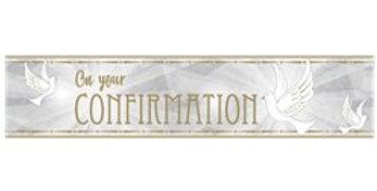 Confirmation Dove Foil Banner - 2.7m
