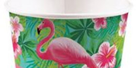 8pk Flamingo ice cream tubs 16pk